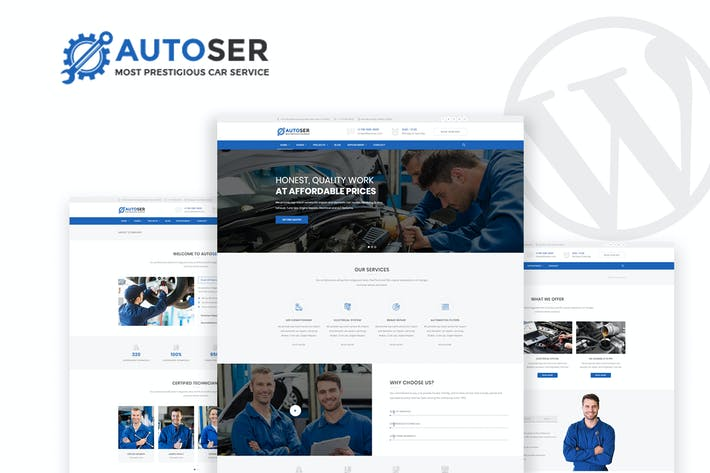Thumbnail for Autoser - Car Repair & Auto Service WP Theme