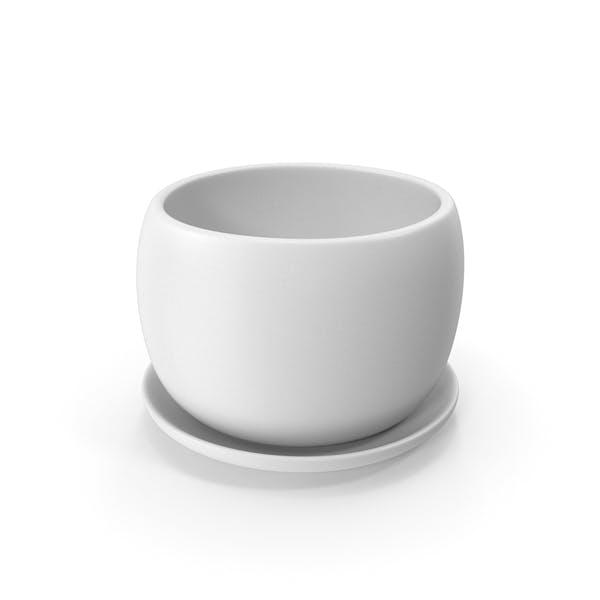 Keramiktopf mit Teller