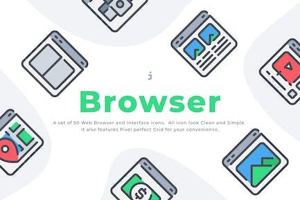50 Web Browser icon set