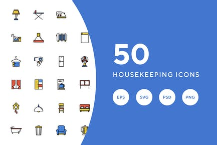 50 Housekeeping Icons