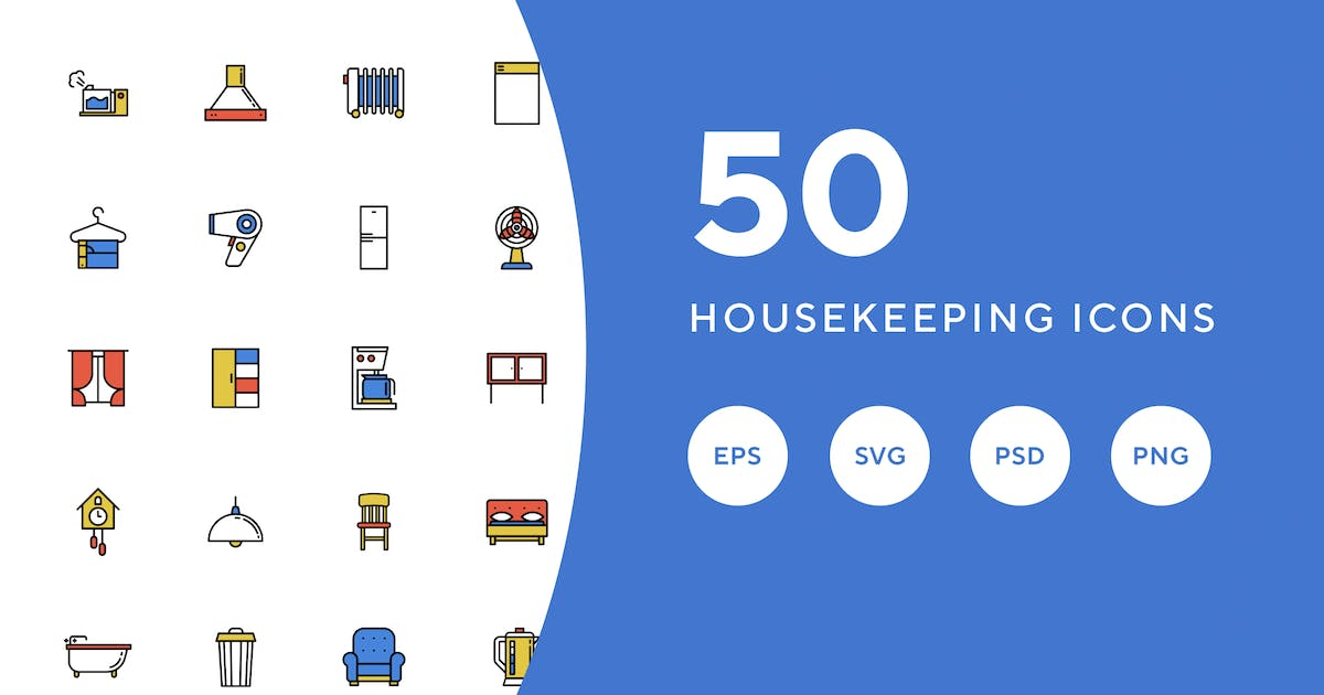 Download 50 Housekeeping Icons by Guapoo