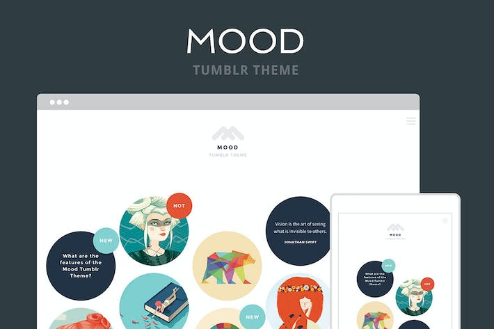 Thumbnail for Mood Tumblr Theme