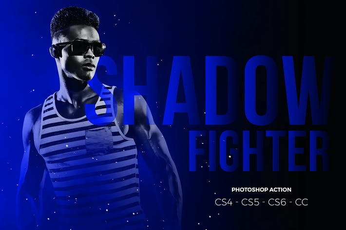 Thumbnail for Shadow Fighter Photoshop Action