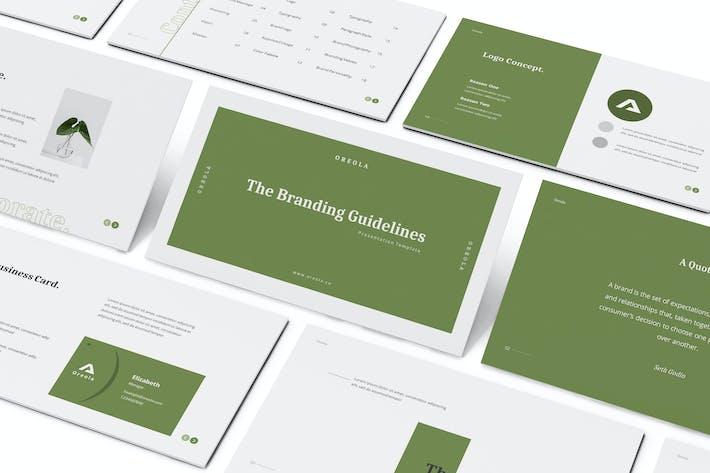 Thumbnail for Oreola Branding Guidelines Keynote Template