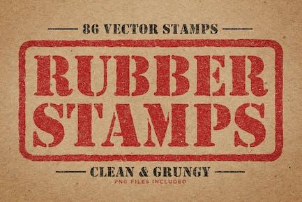 Rubber Stempel Vektor Pack Band 2