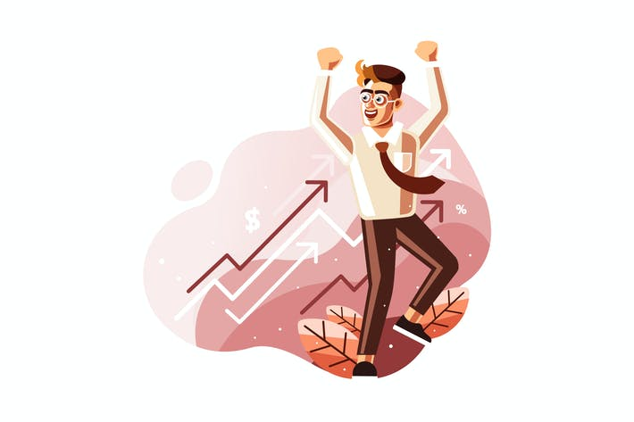 Thumbnail for Celebrate Profits Concept Illustration