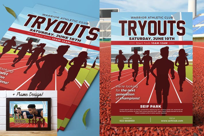 Thumbnail for Athletics Tryouts Flyer