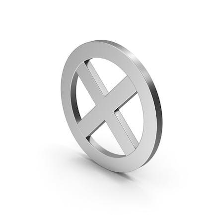 Symbol X Mark Silver