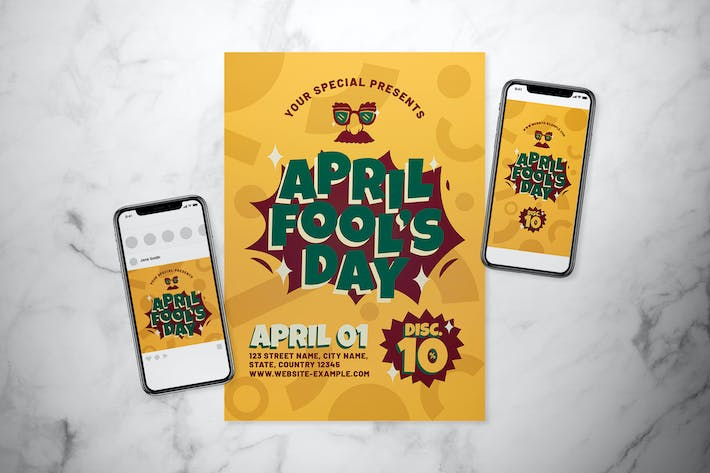 Thumbnail for April Fool's Day Flyer Set