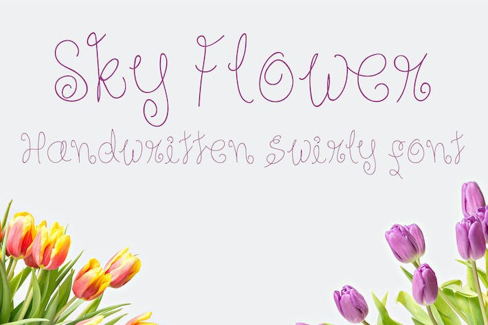 Thumbnail for Sky Flower - Handwritten Font