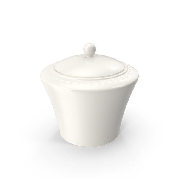 Белая жемчужина сахарная чаша
