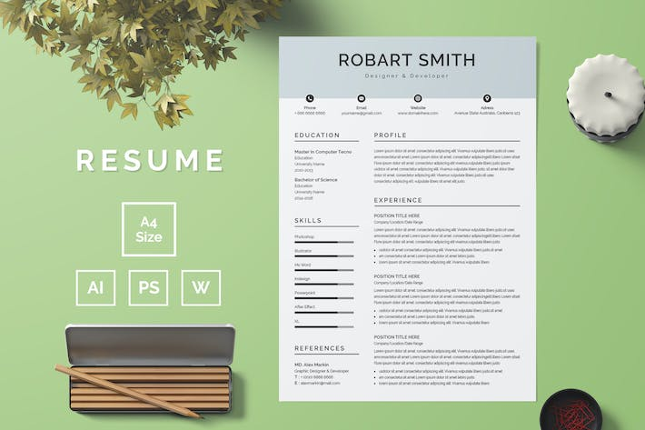 Thumbnail for Resume Template 55