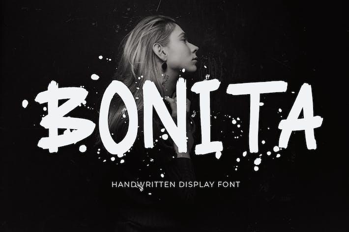Thumbnail for Police d'affichage manuscrite Bonita