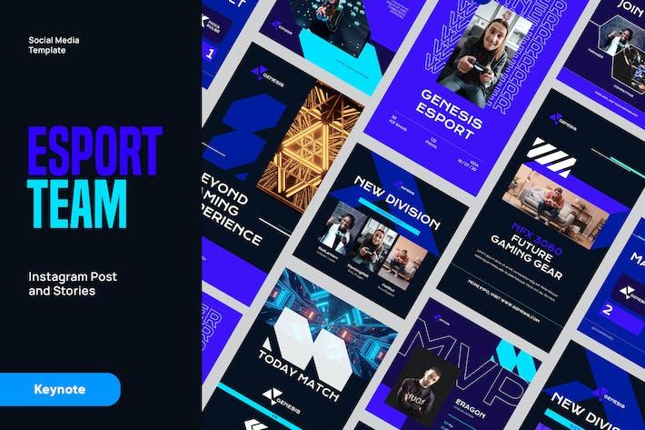 Online Gaming ESport Instagram Kit Keynote