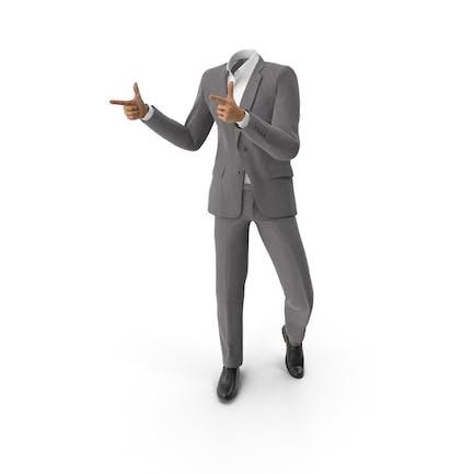 Thumbs Forward Suit Grey