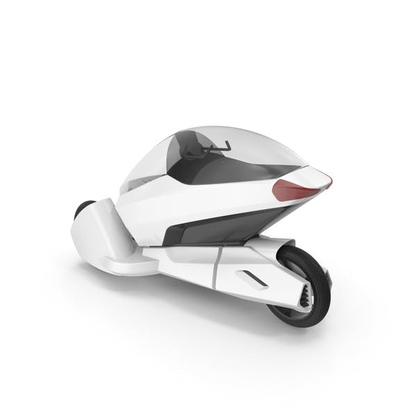 Concept Motor Cycle White