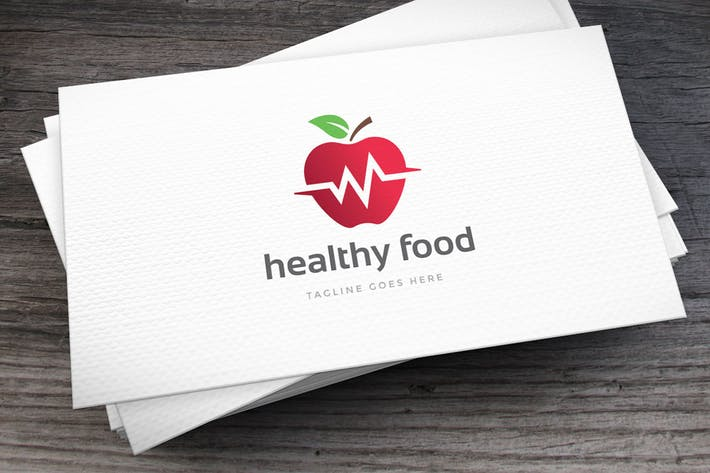 Thumbnail for Plantillas de logotipos de Healthy Food
