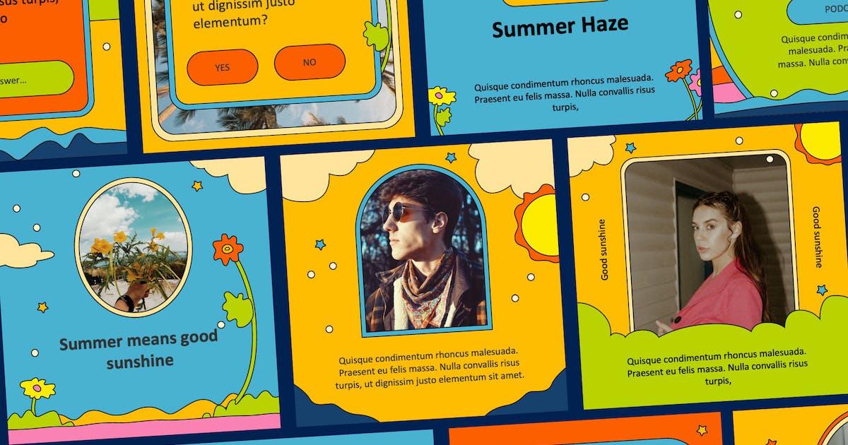 Download Insta 70s - Keynote Instagram Template by Slidehack