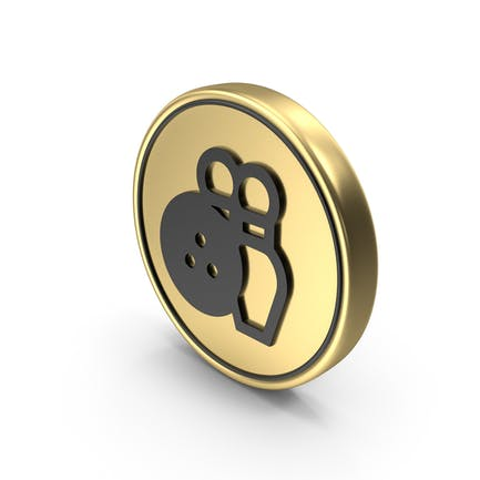 Bowling Game Coin Logo Icon