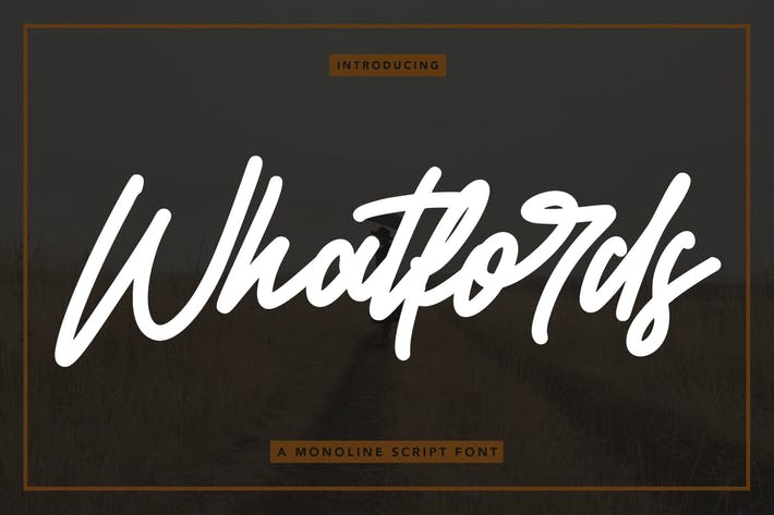 Whatfords - Monoline Script Font