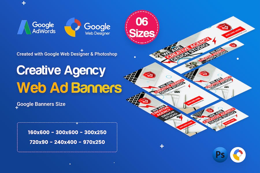 Creative, Startup Agency Banners HTML5 D37