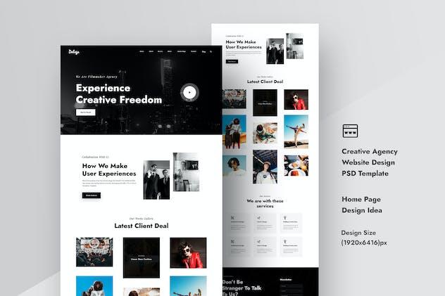 Creative Agency Website Design PSD Template UI Kit