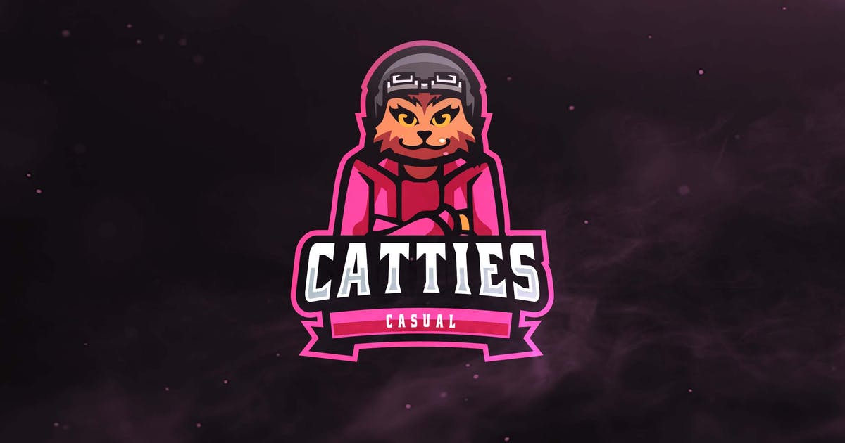 Catties Casual Sport and Esports Logo by ovozdigital
