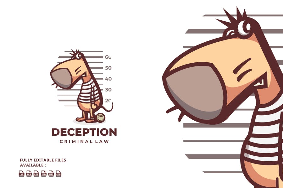 Deception Cartoon Logo