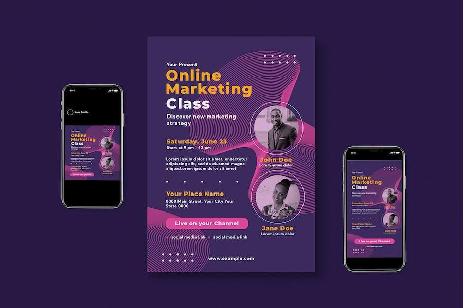 Marketing Online Flyer Set
