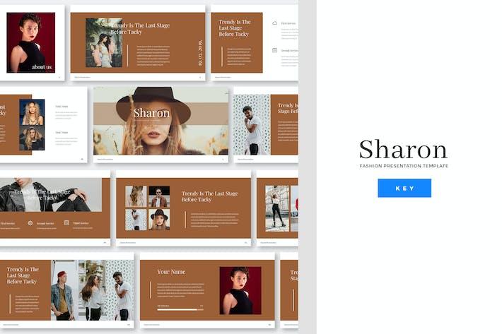 Cover Image For Sharon - Fashion Keynote PräsentationsVorlage