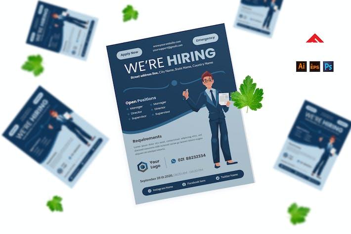 Thumbnail for Job hiring Flyer Advertisement