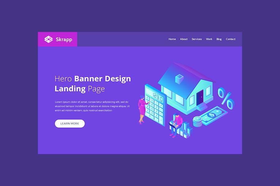 Skrapp - Hero Banner Template
