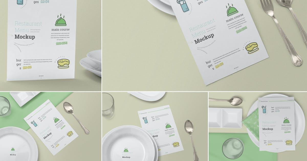 Download Restaurant Menu Card Mockups by zippypixels