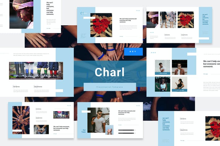 Thumbnail for Charl - Charity Keynote Presentation Template