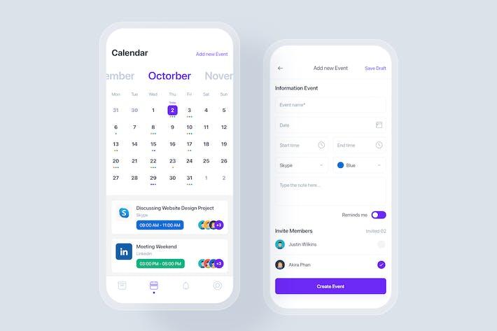 Event & Calendar mobile app UI concept