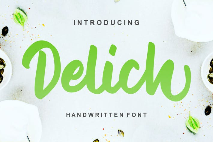 Thumbnail for Delich | Handwritten Script Font