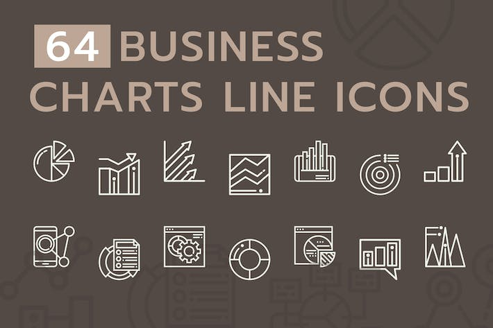 Thumbnail for Business Chart Line Icons