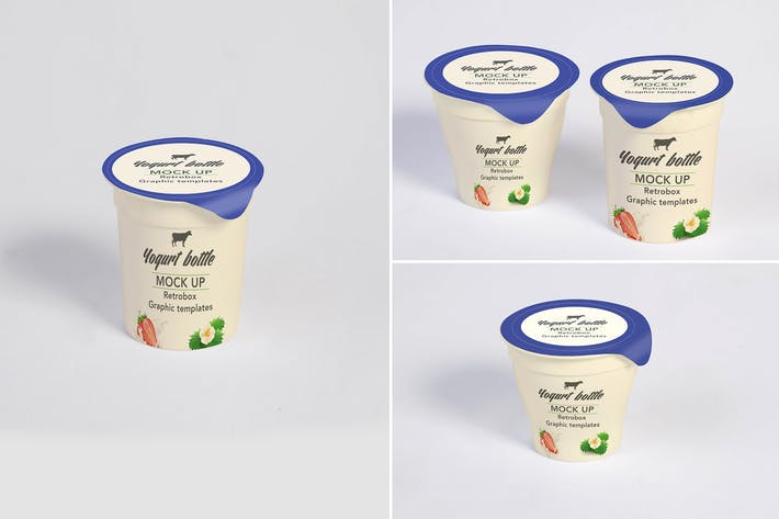 Thumbnail for Yogurt Bottles Mock Up