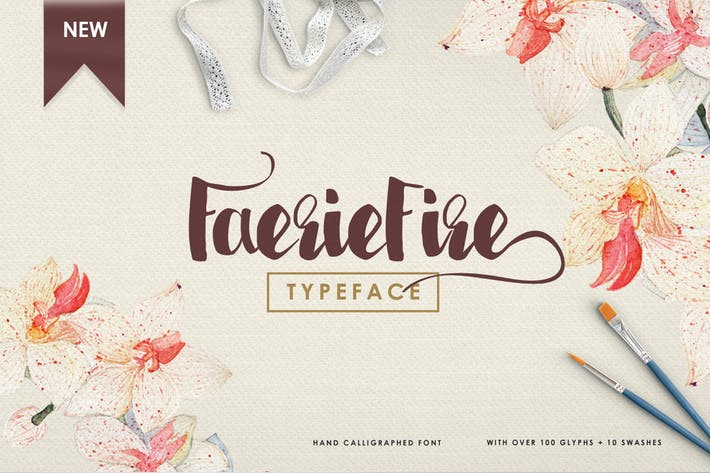 Thumbnail for Faeriefire Typeface