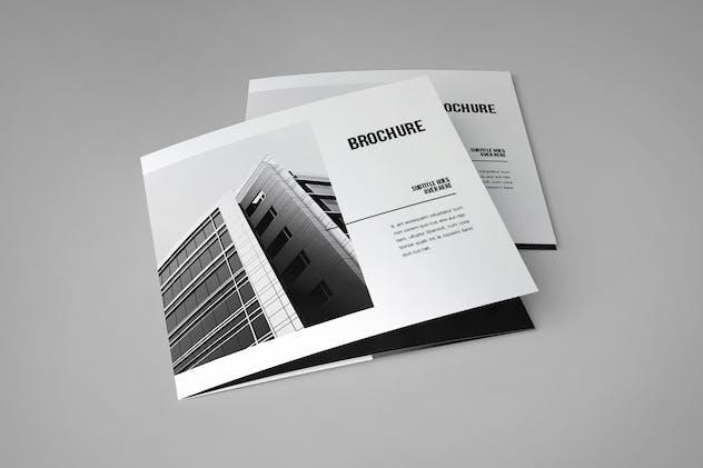 Square Minimal Black & White Architecture Trifold