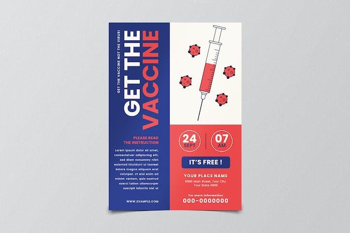 Medical Vaccine Virus Flyer