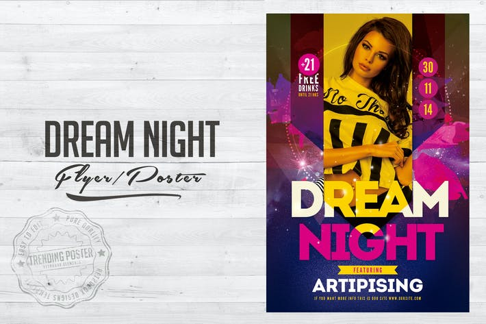 Thumbnail for Dream Night Flyer Poster