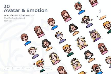 30 Avatar- und EmotionIcons