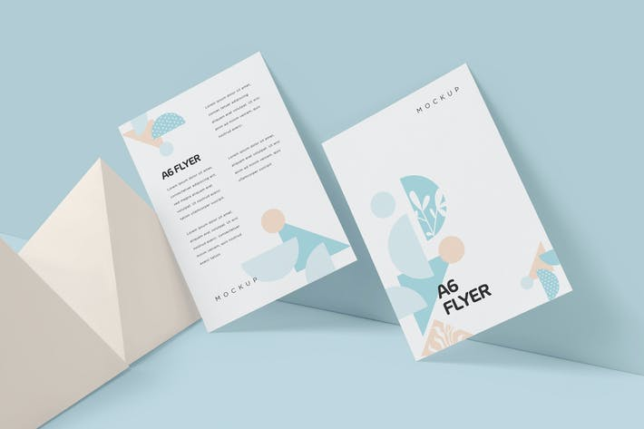 Thumbnail for A6 Single Page Flyer Mockups