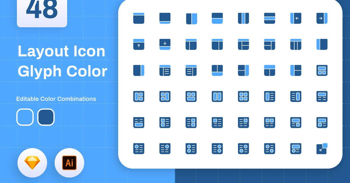 Download Layout Icon Glyph Color by sudutlancip