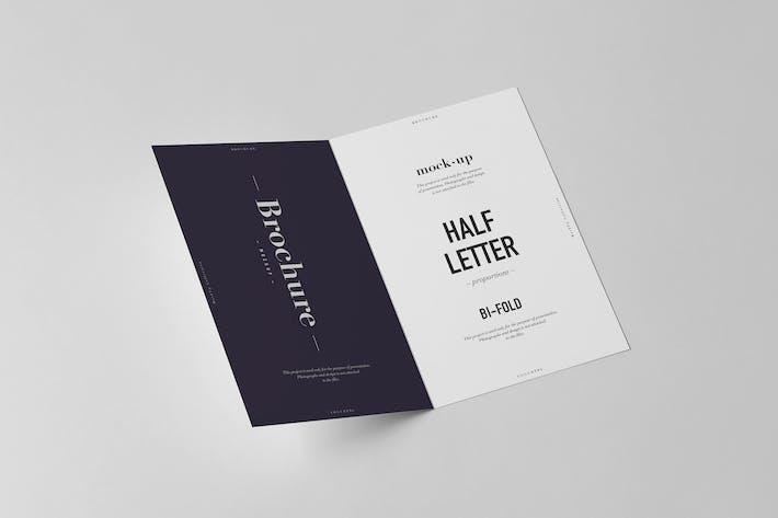 Thumbnail for Bi-Fold Half Letter Brochure Mock-up