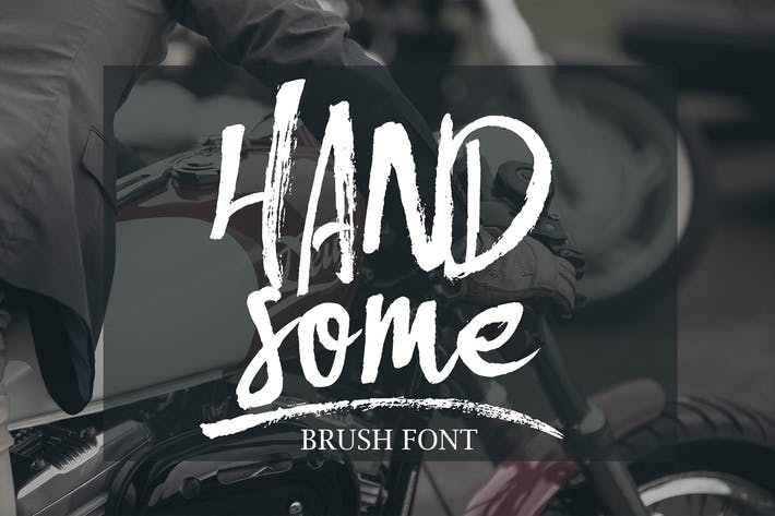 Thumbnail for Handsome Brush Font