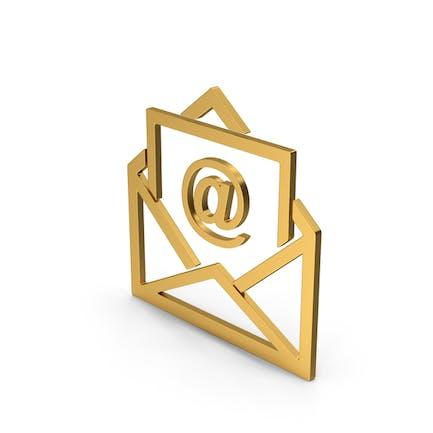 Symbol Email Envelope Gold