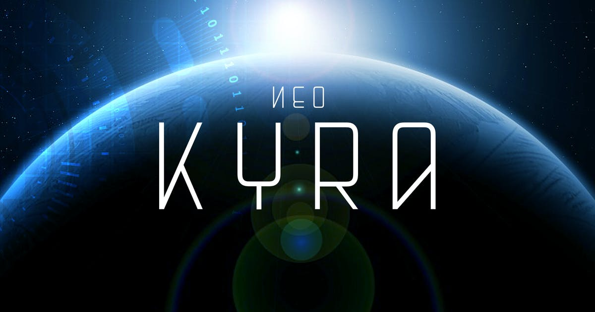Download Neo Kyra - Technology Science Font by naulicrea