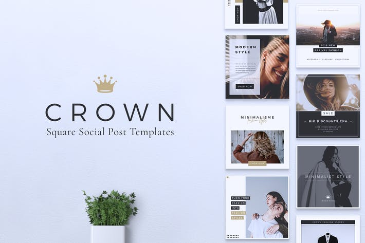 Thumbnail for CROWN Fashion Instagram & Facebook Post